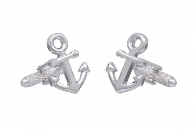 Plain Ships Anchor Cufflinks